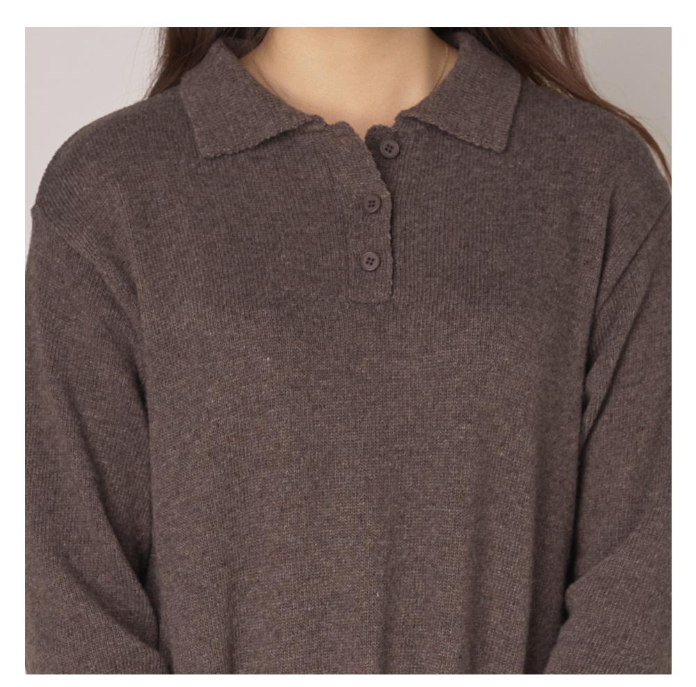 Cashmere Collar Knitwear Dress