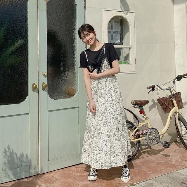 Semilon Lace Long Bustier Dress