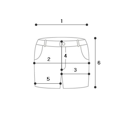 Basic roll-up short pants