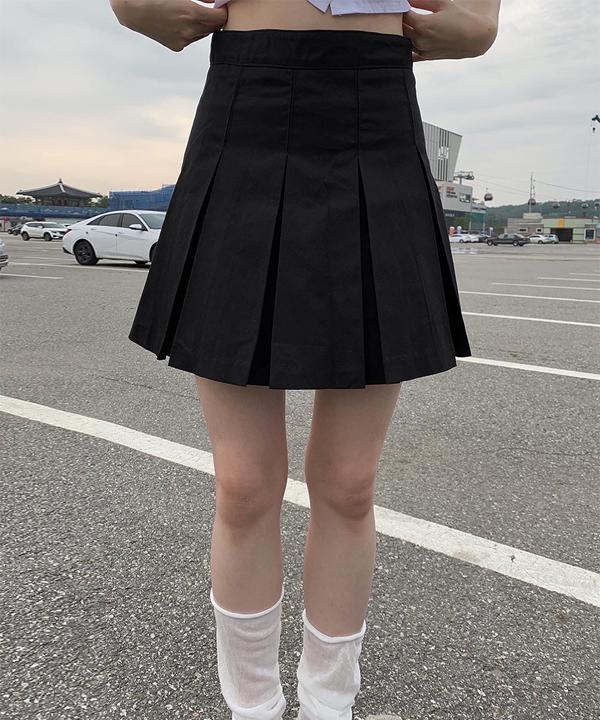 Haru cotton pleated skirt