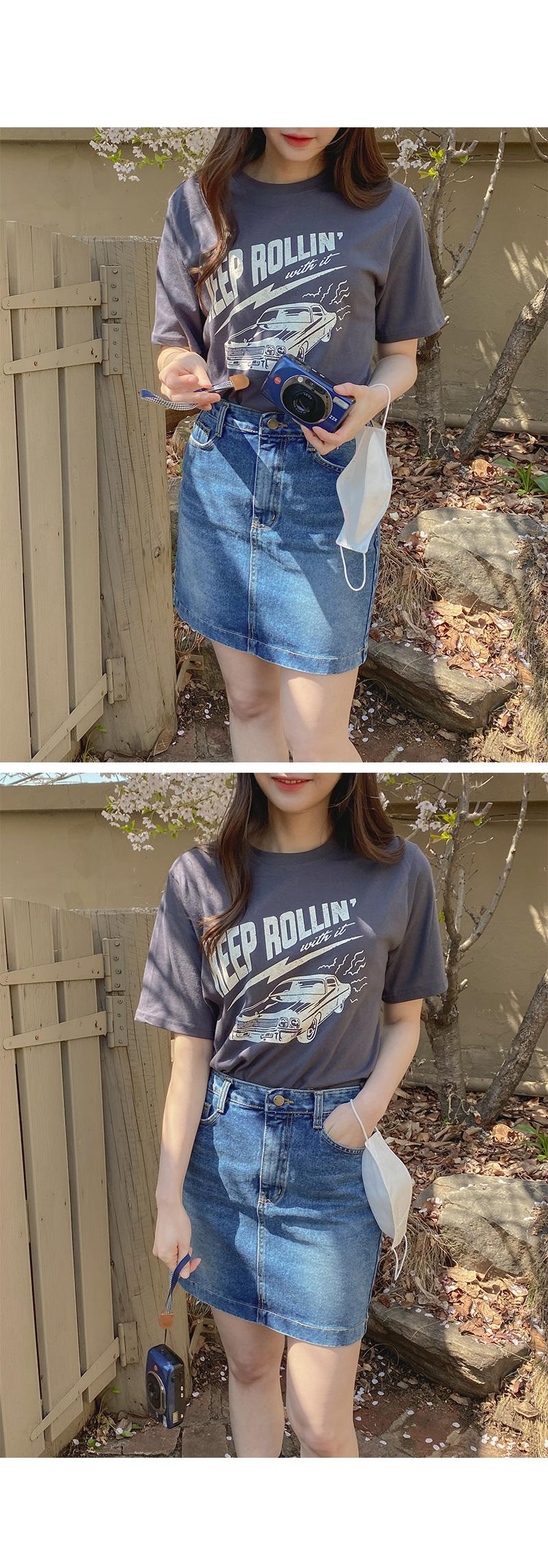 Big 26-38 Inch Second Denim Mini Skirt