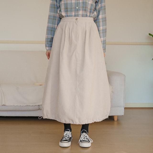 Big Size 26-32 Inch Cookie Corduroy Long Banding Skirt