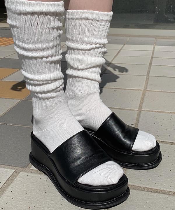 natsu platform heel slippers