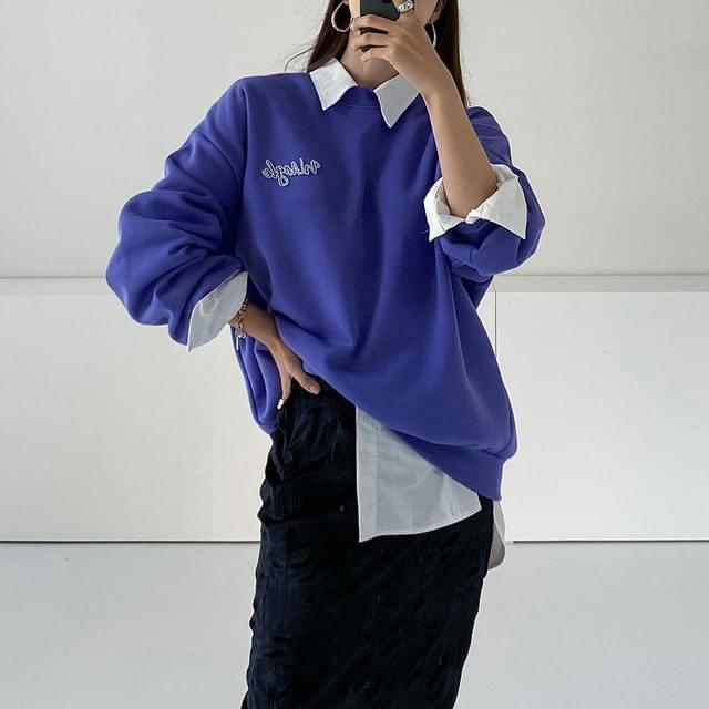 Angle Puff Fleece-lined Sweatshirt