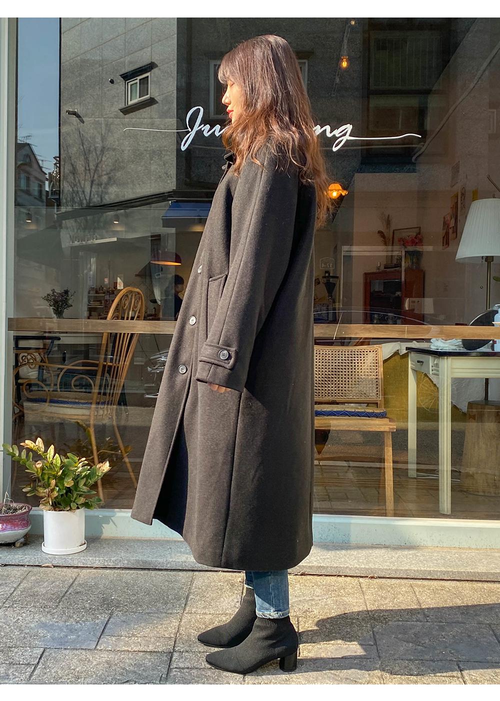 Big Size 66-120 6oz Quilted Nagrang Single Collar Long Coat