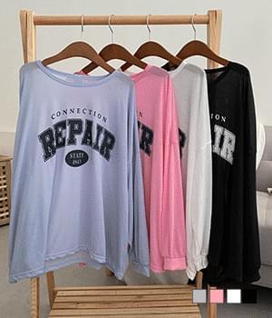 Repair Thin Overfit Long Sleeve T-shirt