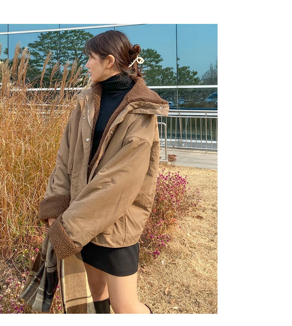 Big Size 66-120 Four Me Field Boxy Boxy-fit Jacket