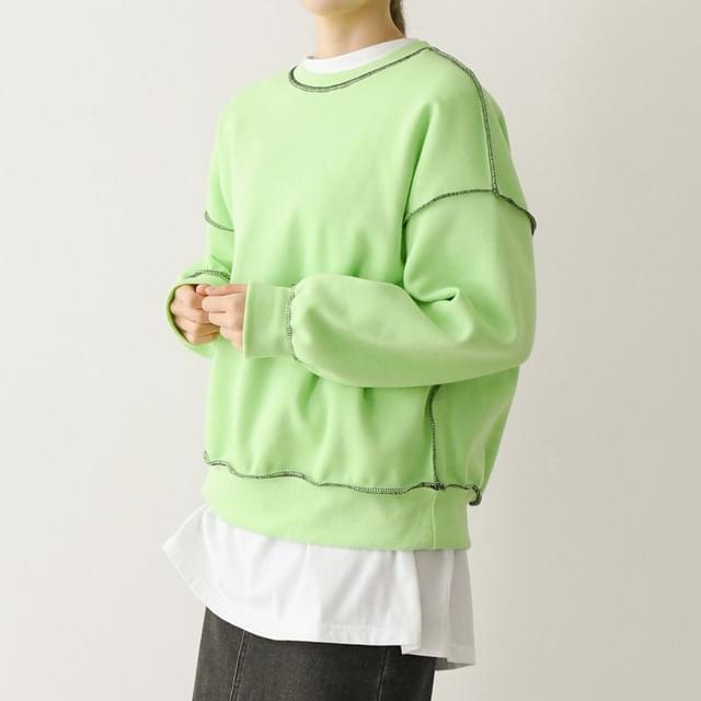 Out Stitch Fleece-lined Sweatshirt