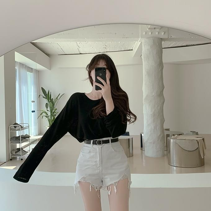 Over 1,000 pieces Anika Frayed Hem Cut Denim Short Pants Shorts