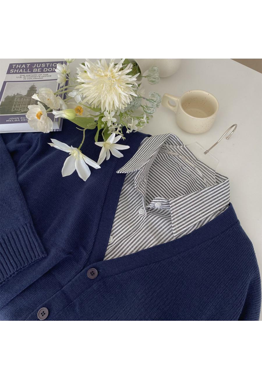 Big Size 55-120 Someway Over Fit Knitwear Cardigan