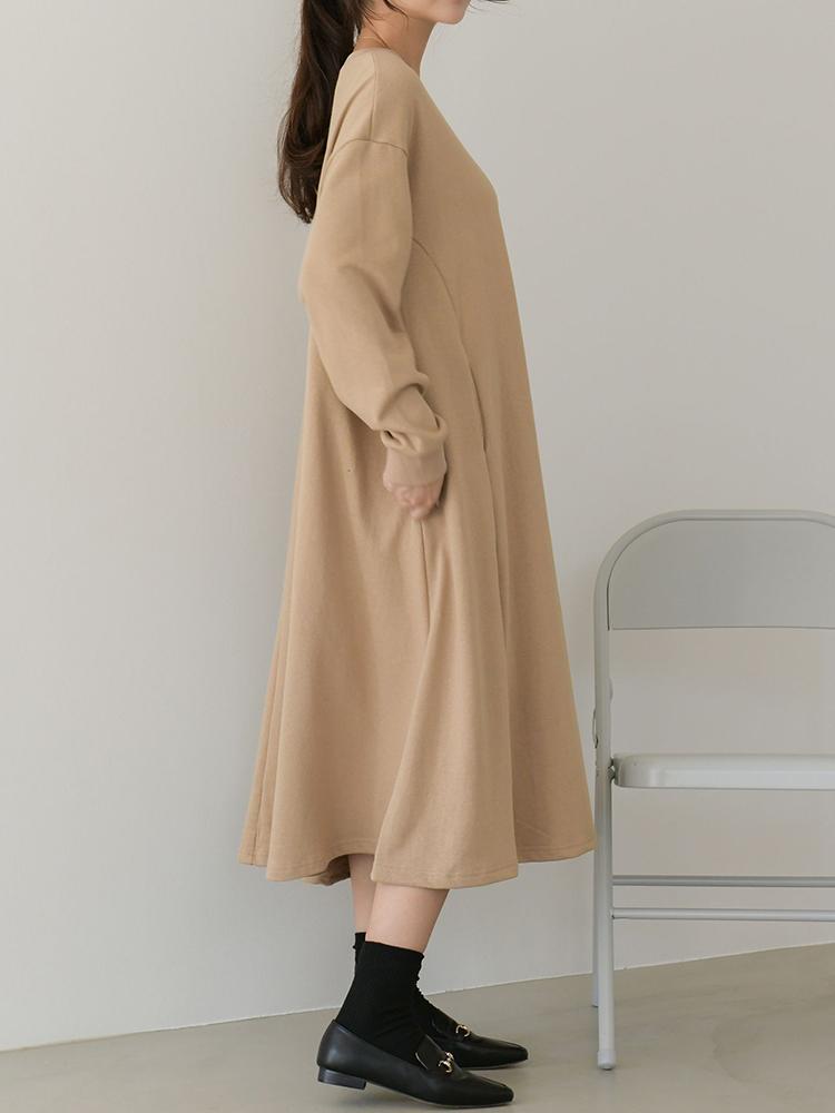 Zuri Pocket Line Long Dress