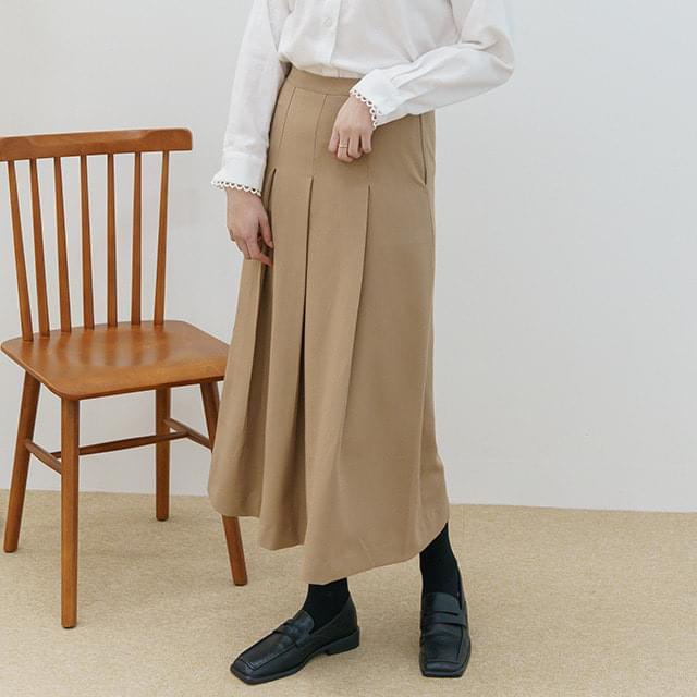 Big Size 26-32 Inch Tulip Pleated Banding Long Skirt