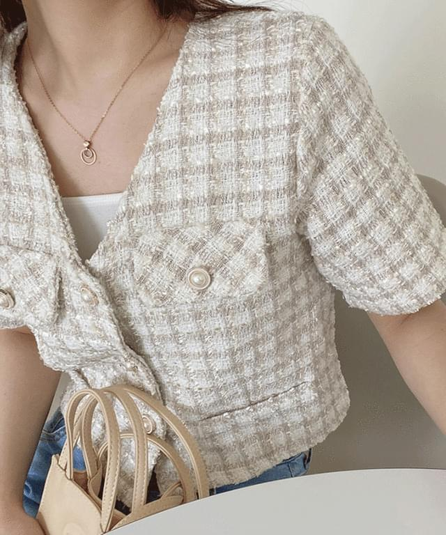 honey tweed cropped jacket