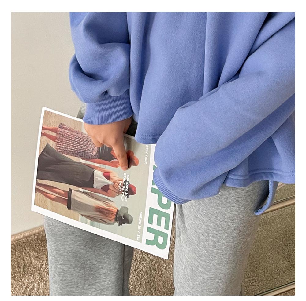 Big Size 55-120 puring Boxy-fit Fleece-lined Sweatshirt