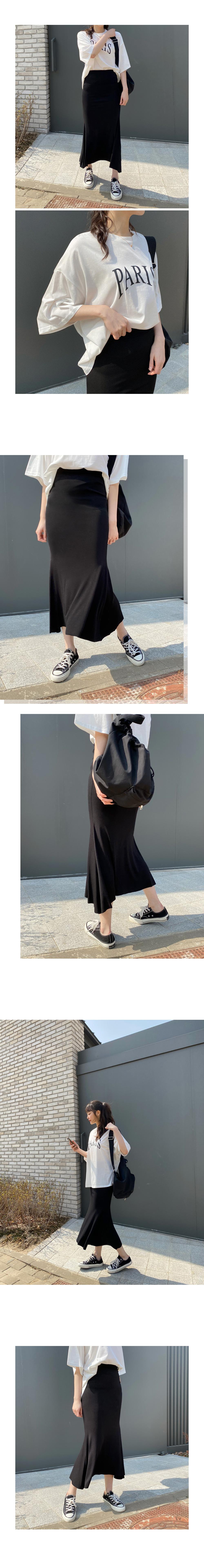 Ravim Mermaid Long Banding Skirt
