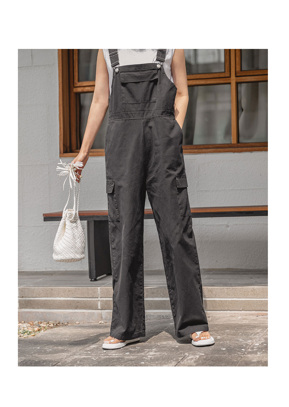 Bohemian Suspenders Cotton Trousers