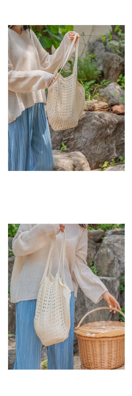 Circle Knitwear Shoulder Bag