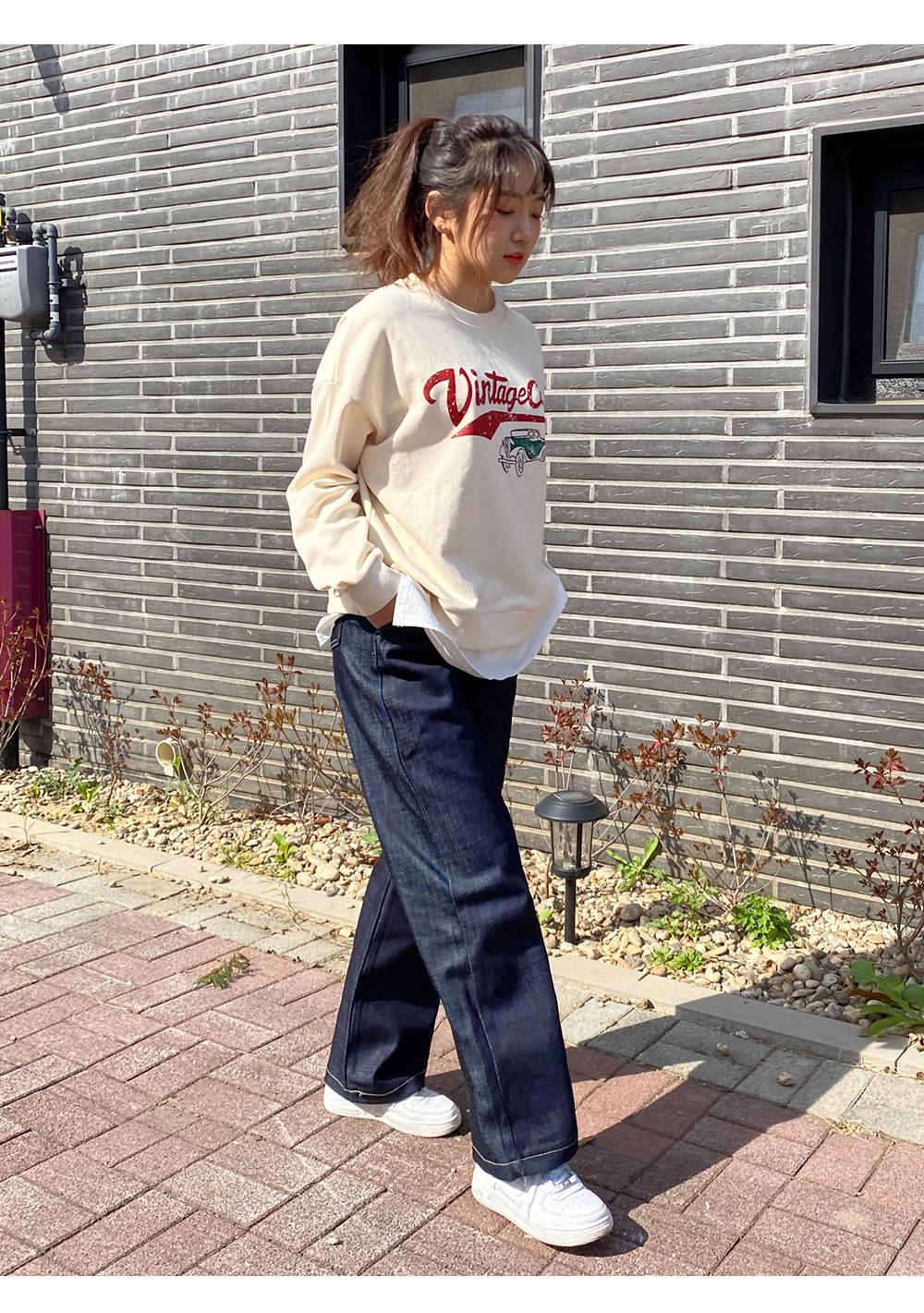 Raw Long Wide Pintuck Pants