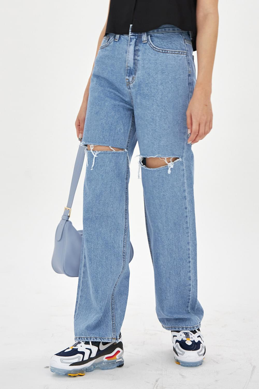 Knee damaged denim Pants