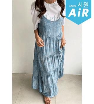 Small Flower Cancan Sleeveless Dress #37985