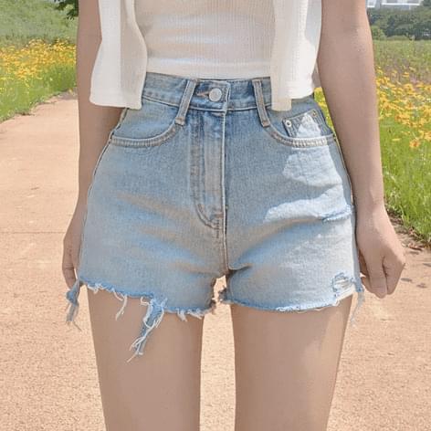Tiang Square Neck Cardigan + Lofi Cut Short Pants