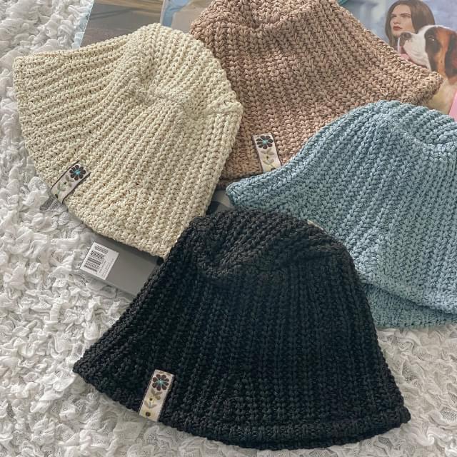Anyu Flower Tag Bucket Hat
