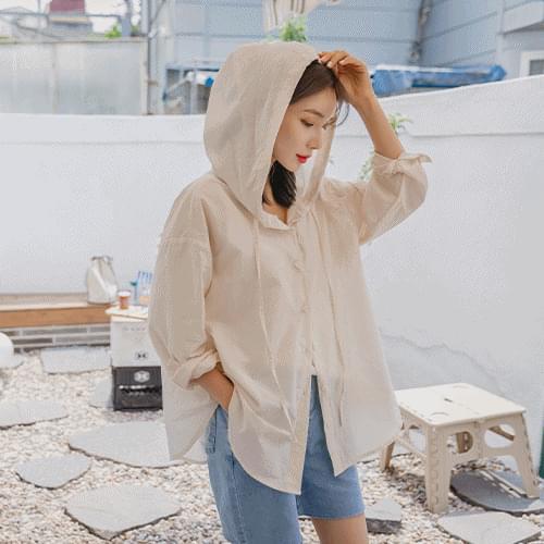 rain Loose-fit hooded shirt