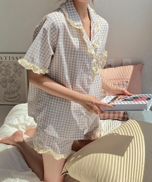 Coney Check Lace Pajama