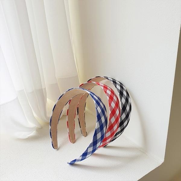 mignon check headband