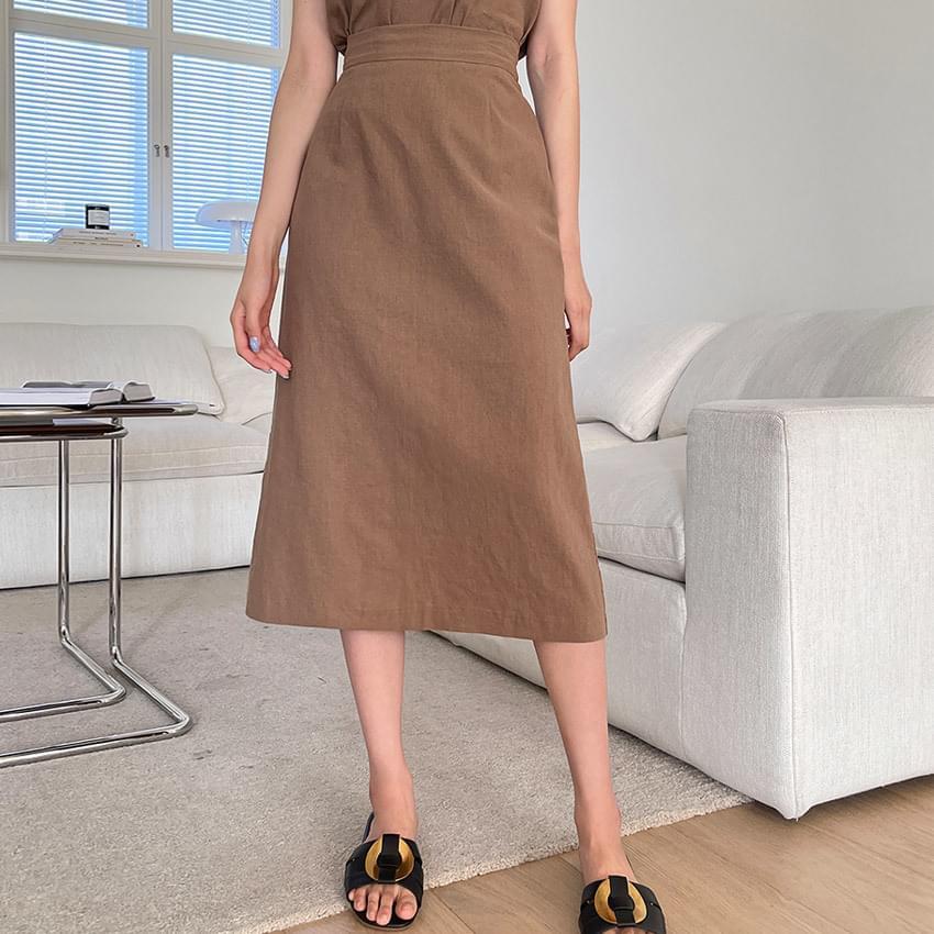 Mascarpone Linen Banding Skirt
