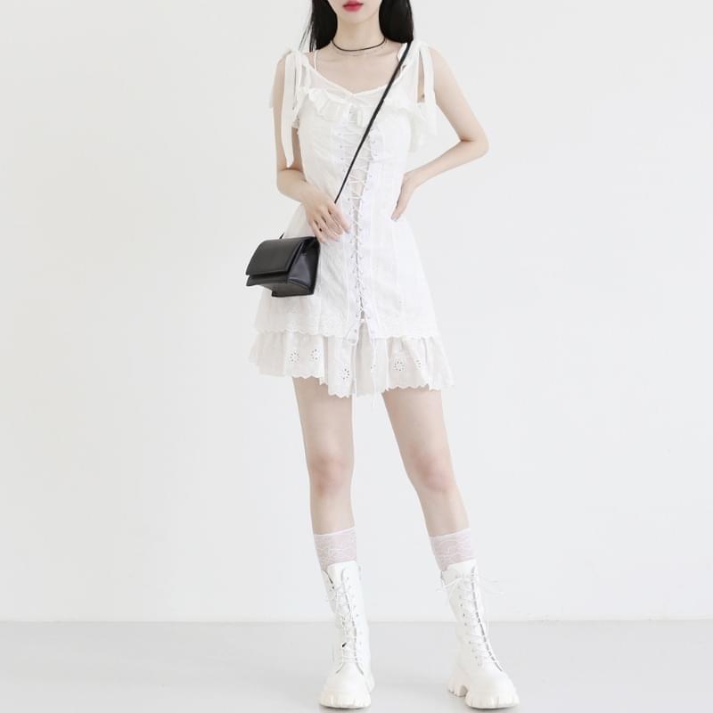 Velois lace corset Dress