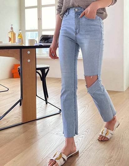 Robo Cut Straight Denim Pants