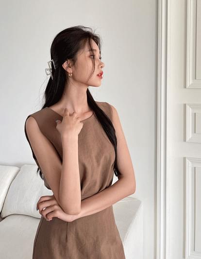 Mascarpone linen sleeveless