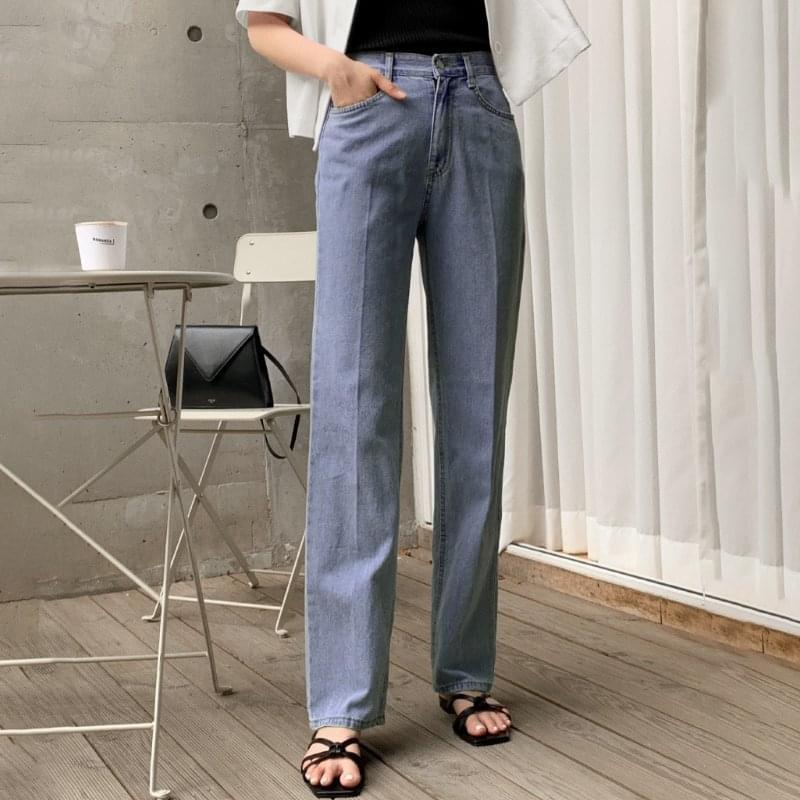 Sowan Slim Straight Denim Pants - 1 color 牛仔褲