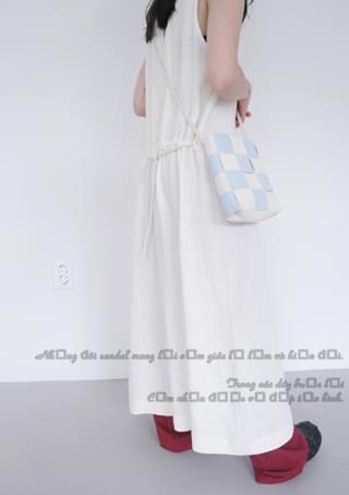 mild checkerboard bag
