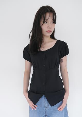 韓國空運 - attractive cap sleeve blouse 襯衫