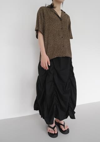 tile shirring banding skirt
