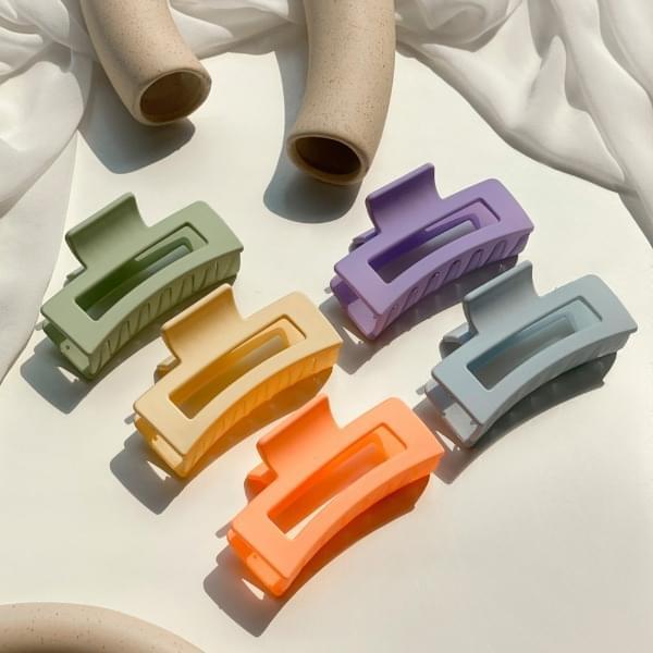 Vivid matte rectangular hair tongs 5color