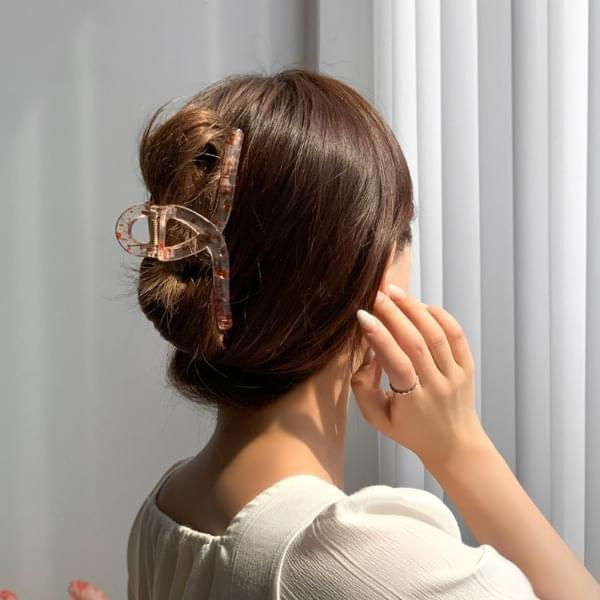 Ink dot twisted transparent hair tongs pin 6color