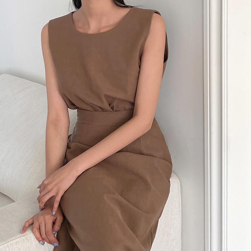 Mascarpone Linen Sleeveless & Skirt Set