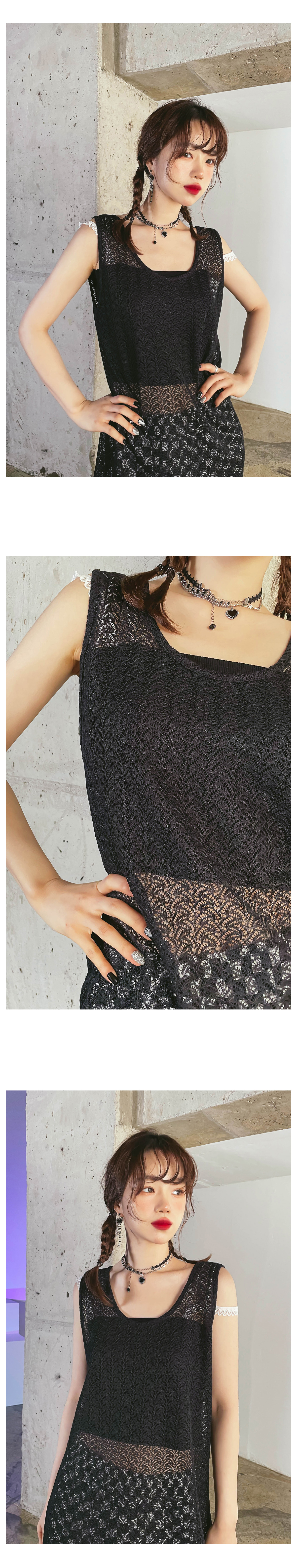 lace flan long Dress