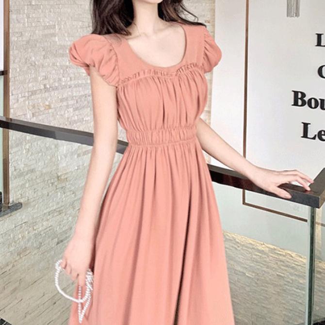 Innocent Yeori Yeori Sweety Shirring Up Dress