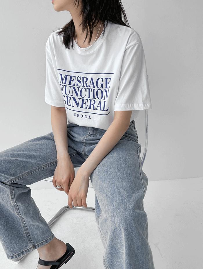 제너럴 반팔 티셔츠