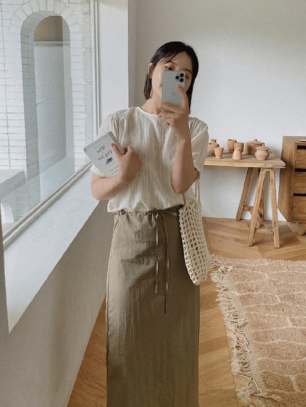 Tete short sleeve blouse