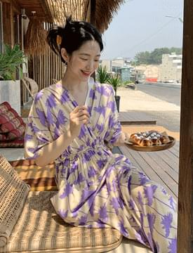Coconut String Pocket Long Dress