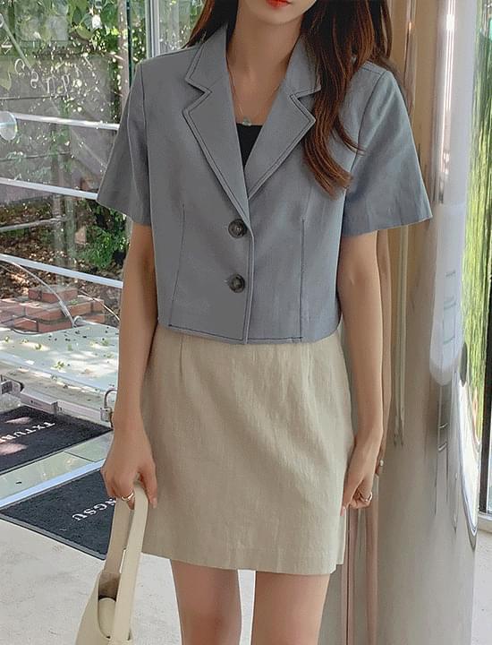 Heidi Stitch Short Sleeve Jacket