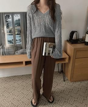 Naris Linen Banding Pants