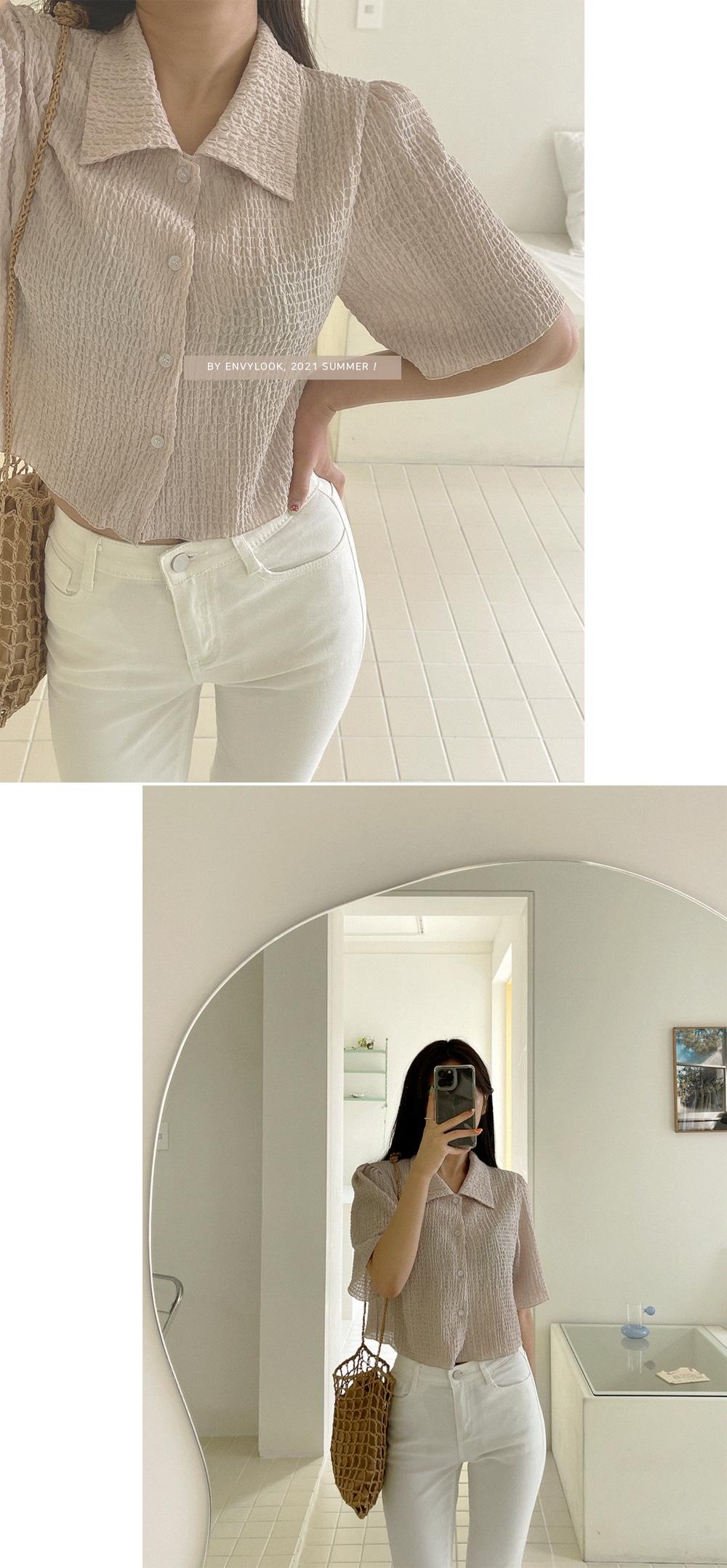 wink collar blouse