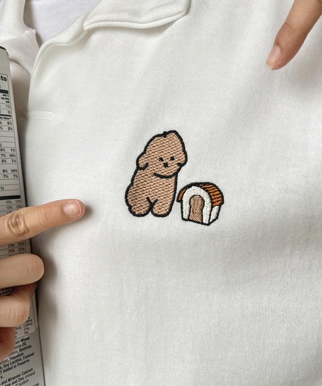 Big Size 55-88 Puppy embroidered collar Buffett five Sweatshirt