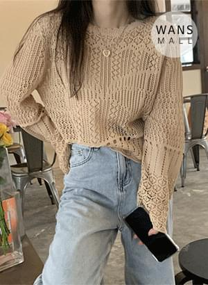 kn4946 Shining See Through Weave Summer Knitwear